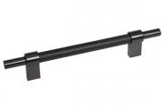 SY8772 0128 AL6-AL6 Ручка-скоба 128мм, отделка черный матовый