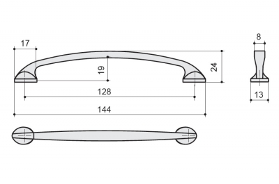 MC 8.941.0128.40 Ручка-скоба 128мм, хром глянец