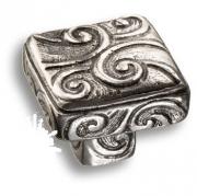 900.00.16 argento Ручка кнопка сплав олова и серебра, цвет античное серебро