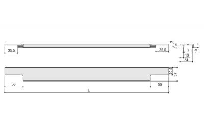 901365.81.99.797 Ручка врезная 797мм отделка сталь шлифованная