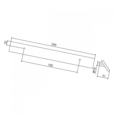 Ручка-скоба 160мм, отделка хром глянец + чёрный пластик 217.689-2011/9603
