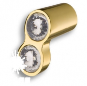 92 - Gold Ручка кнопка с кристаллами глянцевое золото