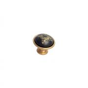 Ручка-кнопка, отделка золото матовое + керамика черная 24316P035EW.46
