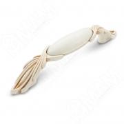 WMN.97.01.00.096.V5 Ручка-скоба 96мм cлоновая кость/золото винтаж керамика