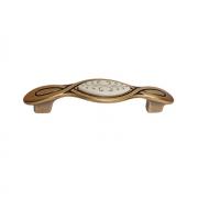 Ручка-скоба 96мм, отделка бронза античная красная + вставка 9.1350.0096.25-113
