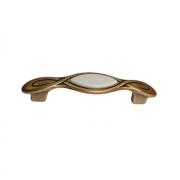 Ручка-скоба 96мм, отделка бронза античная красная + вставка 9.1350.0096.25-102