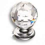 9932-400 Ручка кнопка с кристаллом Swarovski, глянцевый хром