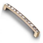Ручка-скоба с кристаллами, 128мм, хром 140*12*24  (Акрил) ACR02-128 BA