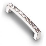 Ручка-скоба с кристаллами, 96мм, хром  105*12*21 (Акрил) ACR02-96