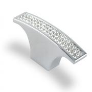 Ручка-кнопка с кристаллами, хром, 64*15*30  (Акрил) ACR07