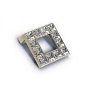 Ручка-кнопка с кристаллами, 49*49*20 мм, 32 мм. (Акрил) ACR17 BA