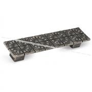 SPARTA Ручка-скоба 128мм серебро состаренное C-3264.G35