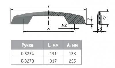 ALTERNATIVE Ручка-скоба 128мм хром C-3274.G2