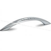 KOBRA Ручка-скоба 96мм хром матовый C-663.G6
