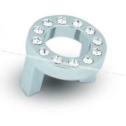 CENTER Ручка-кнопка 32мм хром с кристаллами Сваровски CNT.32K.CL