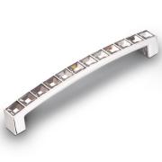 Ручка-скоба с кристаллами, 128мм, хром 140*12*24 CRL02-128
