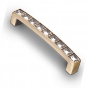 Ручка-скоба с кристаллами, 96мм, хром  105*12*21 CRL02-96 BA