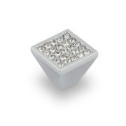 Ручка-кнопка с кристаллами, хром, 20*20*18 CRL05