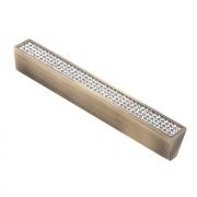 Ручка-скоба с кристаллами, 128мм, бронза, 140*17*22 CRL06-128 BA