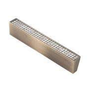 Ручка-скоба с кристаллами, 96мм, бронза, 108*14*22 CRL06-96 BA