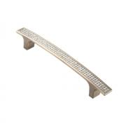 Ручка-скоба с кристаллами, 128мм, бронза, 170*16*28 CRL08-128 BA