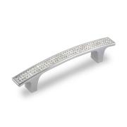 Ручка-скоба с кристаллами, 96мм, хром, 139*15*28 CRL08-96