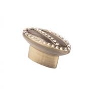 Ручка-кнопка с кристаллами, 40*20*26 мм CRL09 BA