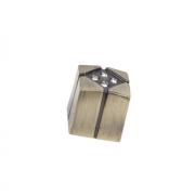 Ручка-кнопка с кристаллами, 18*18*19 мм CRL10 BA