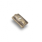 Ручка-кнопка с кристаллами, 48*28*26 мм, 32 мм. CRL15 BA