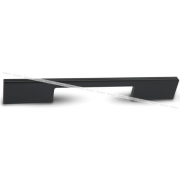 Ручка-скоба 224мм черный глянец G029.0224.BA