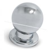 Ручка-кнопка D18мм хром GN3404