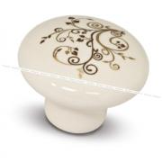 Ручка-кнопка D37мм керамика золотые узоры GP2011