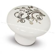 Ручка-кнопка D37мм керамика серебряные узоры GP2012