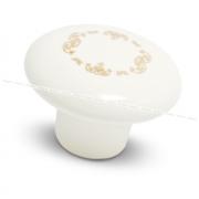 Ручка-кнопка D37мм керамика золотые узоры GP203/MLK