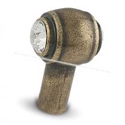 SIPARIO Ручка-кнопка бронза состаренная с кристаллами Сваровски GW2335SW2