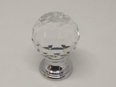 9933-400 Ручка кнопка с кристаллом Swarovski, глянцевый хром