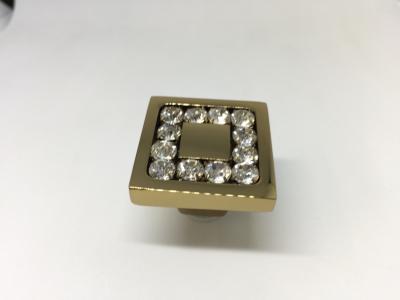 0771-003-2 Ручка кнопка, латунь с кристаллами Swarovski, глянцевое золото