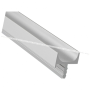 Профиль-ручка врезная для фасада 18мм, алюминий матовый, L-5500мм LKW4AA