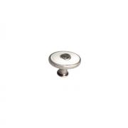 Ручка-кнопка, отделка серебро старое + вставка 1897-32ZN29A4