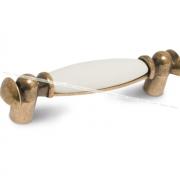Ручка-скоба 96мм бронза состаренная/керамика M09.01.00.02