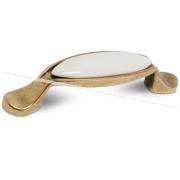 Ручка-скоба 96мм бронза состаренная/керамика M16.01.00.02