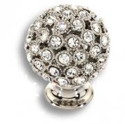 MOB 472 26 SWA 07 Ручка кнопка с кристаллами Swarovski цвет-глянцевый хром