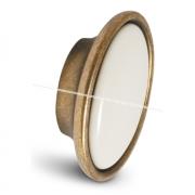Ручка-кнопка бронза состаренная/керамика P18.01.00.02