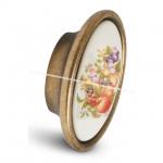 Ручка-кнопка бронза состаренная/керамика фрукты P18.01.84.02