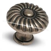 Ручка-кнопка D30мм серебро состаренное P2349030SFE