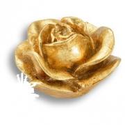 RE 01 19 Ручка кнопка в форме розы, смола, ручная работа, цвет золото
