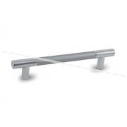 Ручка-рейлинг 128мм хром/алюминий RE.C15.128.ALCR