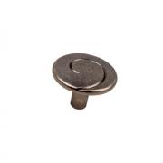 Ручка-кнопка, чернёный старинный цинк RK-090 BAZ
