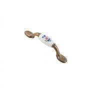 Ручка cкоба металл/фарфор 126x19х29 мм, 76 мм SF03-03-76 BA