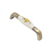 Ручка-скоба с фарфором, 96мм, бронза SF04-06-96 BA